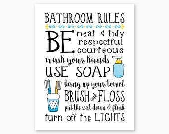 Kids Bathroom Signs Etsy