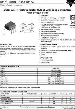 H11D1 DATASHEET PDF