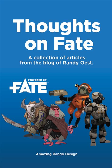thoughts on design thoughts on fate a collection of essays on the fate rpg