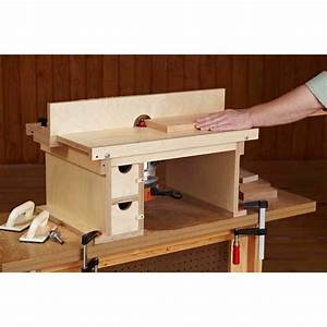 Flip-Top, Benchtop Router Table Woodworking Plan from WOOD