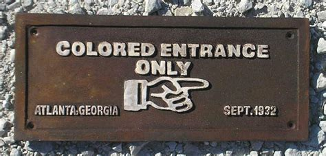 colored signs colored entrance only black americana cast iron