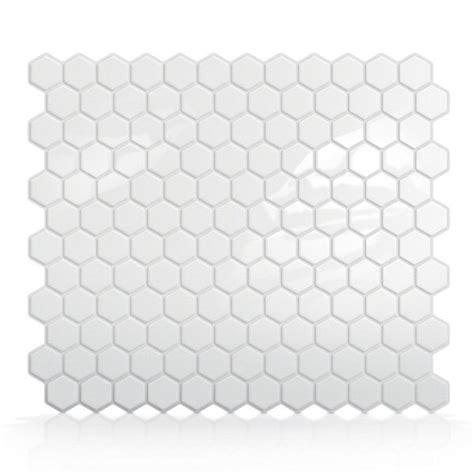 smart tiles sm1038 hexago self adhesive wall tile lowe s