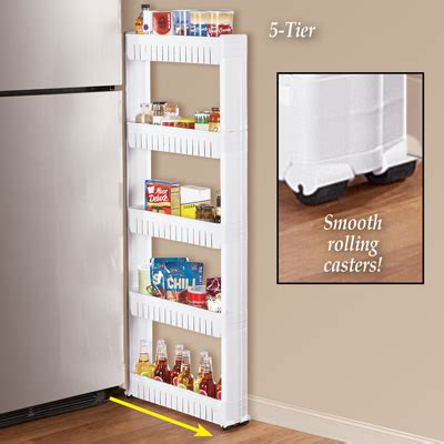 Slim Pantry Slim 5 Tier Slide Out Storage Pantry From Collections Etc