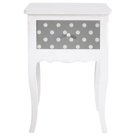 table de chevet enfant avec tiroir en bois blanc l 42 cm