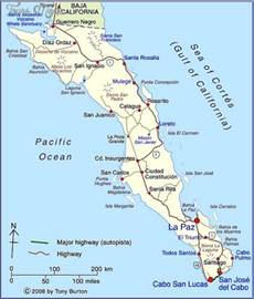 La Paz Baja California Sur Map