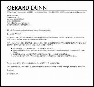 cover letter for human resource coordinator - hr coordinator cover letter sample cover letter