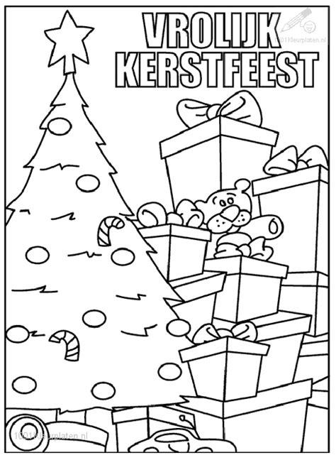 Kleurplaat Kerstboom Met Pakjes by Kleurplaat Kerstboom Met Pakjes