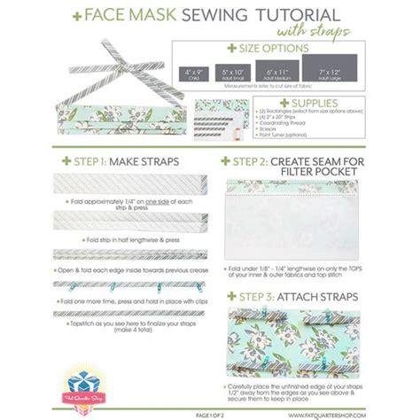 face mask  straps   pattern fat quarter shop