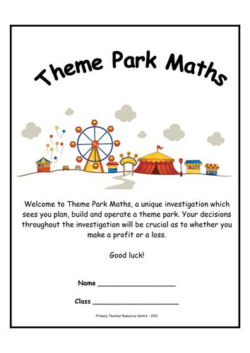theme park maths investigations by resourcecentre