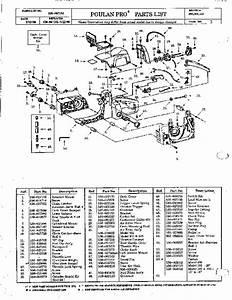 Poulan Pro 285 305 335 Chainsaw Parts List  1990