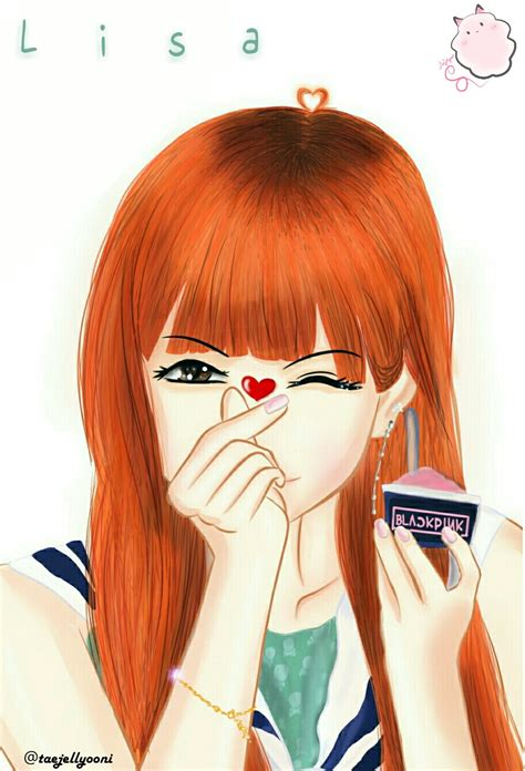 Anime style lisa blackpink cartoon. Lisa 'BlackPink' fan art by taejellyooni on DeviantArt