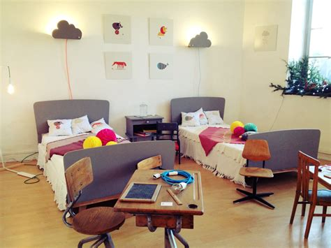 lit chambre chambre enfant vintage rétro boutique