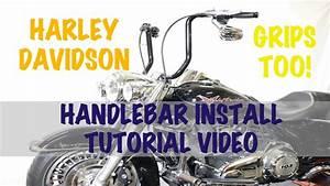 Install Tall  Ape  16 U0026quot  Handlebars On Harley Davidson Road