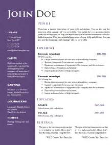 creative resume format template free creative resume cv template 547 to 553 free cv template dot org