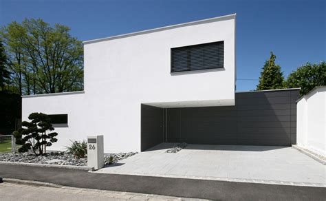 Garage Unterm Haus by Unsichtbar In Die Fassade Integrierte Garage Bauemotion De