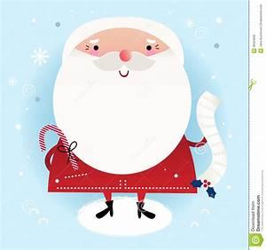 Beautiful cute Santa stock vector. Image of greetings ...