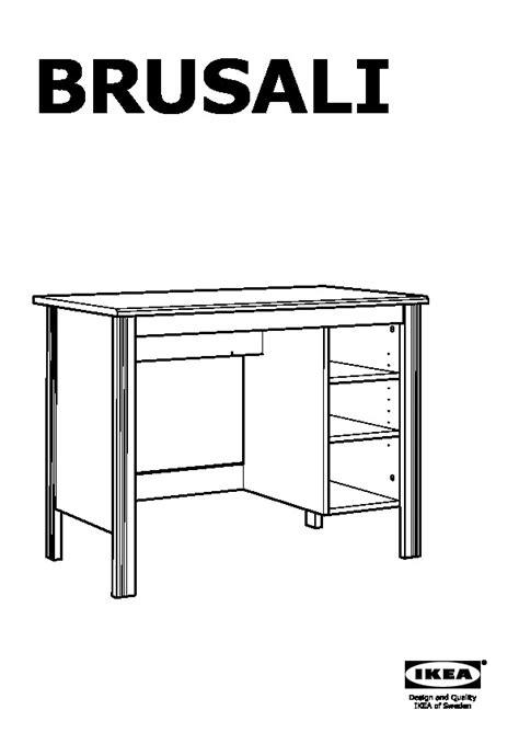 ik饌 bureau brusali scrivania marrone ikea italy ikeapedia