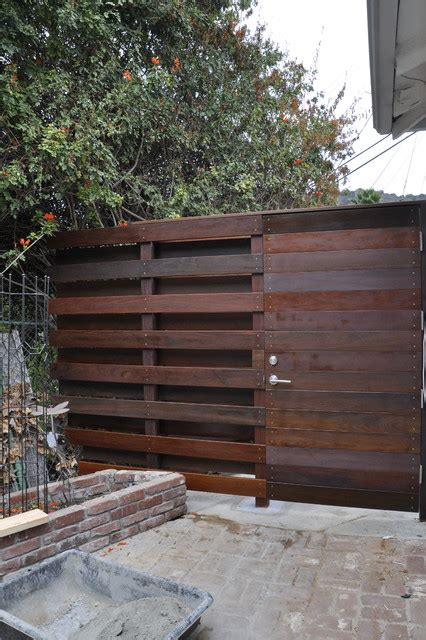 sherman oaks house patio gate after contemporary