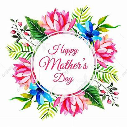 Mothers Mother Happy Frame Floral Watercolor Clipart
