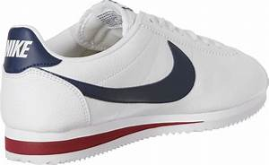 Nike Classic Cortez Leather Shoes White Blue WeAre Shop