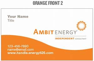 ambit energy business card template images business card With ambit energy business card template