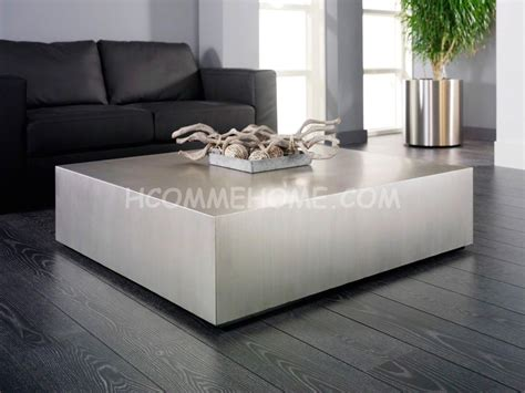 canape taupe cuir table basse alu