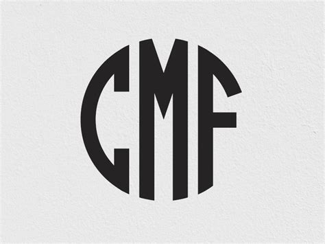 circle monogram font  tony thomas  medialoot  dribbble