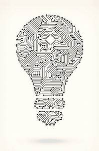 light bulb on circuit board circuit board on royalty free With wiring board