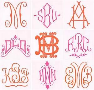 pretty monogram fonts monogram styles pinterest With initials design