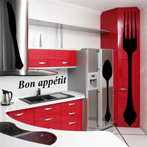 sticker cuisine pas cher kit 4 stickers cuisine pas cher