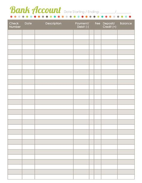 home finance printables  harmonized house project