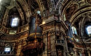 Free Images : church, organ, nave, cathedral, building ...