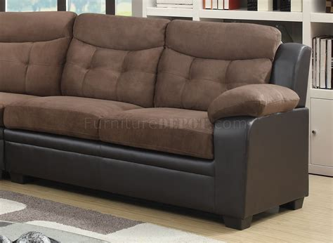 U880015kd Sectional Sofa In Chocolate Brown By Global