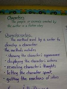 Steal Characterization Chart Characterization Anchor Chart Could Definitely Use This
