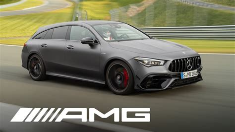 The new compact sports cars absolve the sprint from zero to 100 km/h in record time: The new CLA 45 S 4MATIC+ Shooting Brake (2020) - YouTube