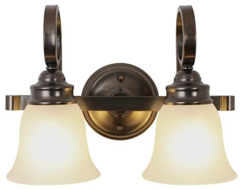 Two Light . Inch Vanity Fixture-oil Rubbed Bronze