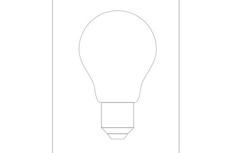 How To Draw A Light Bulb by How To Draw A Flat Single Color Light Bulb Icon In Inkscape