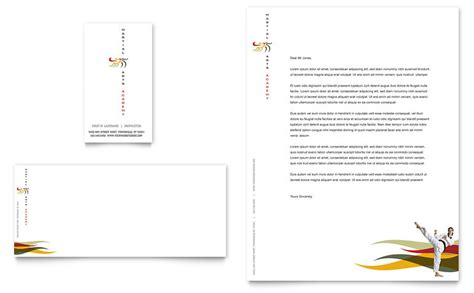 karate martial arts business card letterhead template