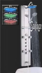 Duschpaneel Mit Massagedüsen : led aluminium duschs ule duschpaneel mit massaged sen wanneneinlauf thermostat von sanlingo ~ Eleganceandgraceweddings.com Haus und Dekorationen