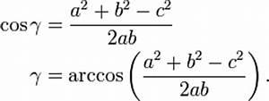 Arccos Berechnen : fl che des dreiecks ~ Themetempest.com Abrechnung
