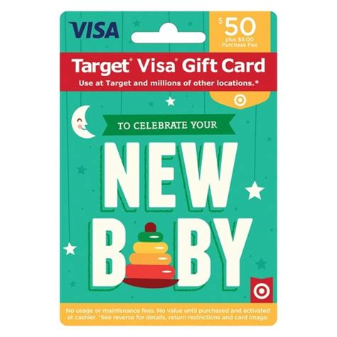 Target's redcard comes in two forms: Visa New Baby Gift Card - $50 + $5 Fee : Target