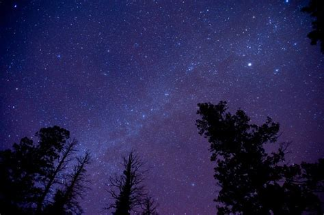 A Beautiful Starry Night In The Blue Ridge Mountains