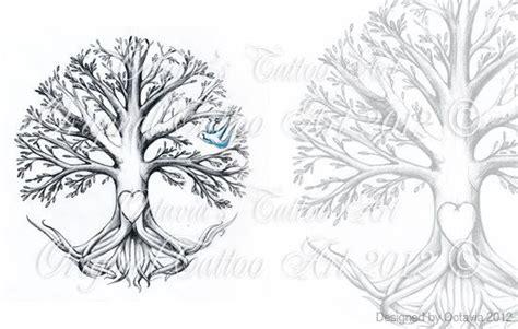family tree tattoo flash instant