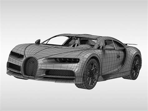 Working once more with service provider apworks, the titanium tailpipe has been designed to be extremely lightweight and is also 'extremely' resistant to high temperatures. Bugatti Chiron (2017) 3d model - CGStudio