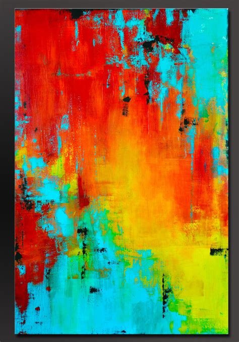 Prism 36 X 24 Abstract Acrylic Painting Contemporary