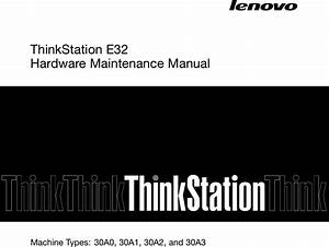 Lenovo E32 Hmm User Manual Hardware Maintenance  Hmm