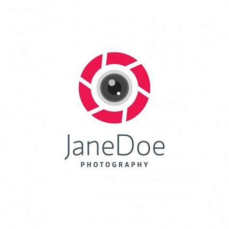modern photography logo template vector