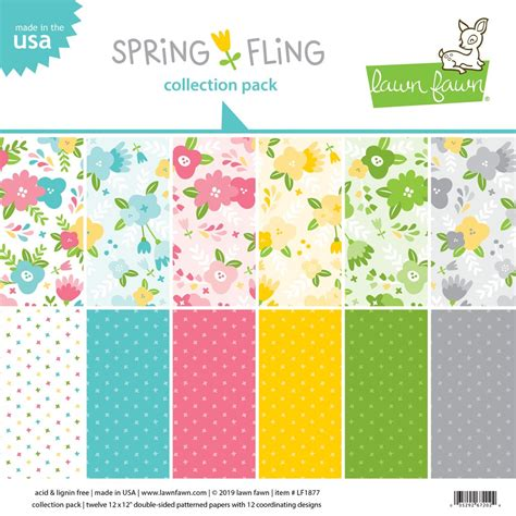 Lawn Fawn 12x12 paper pack Spring Fling Collection