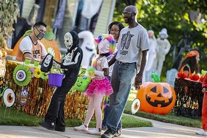 Trick Treat Halloween Covid Socially Distanced Trading