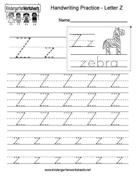 printable letter  writing practice worksheet